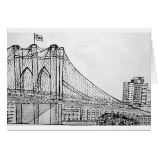 Brooklyn Bridge forever Greeting Card
