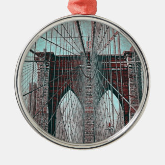 Brooklyn Bridge in NYC Metal Ornament