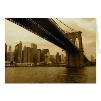 Brooklyn Bridge/Manhattan Card