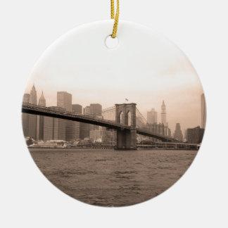 Brooklyn Bridge New York Ceramic Ornament