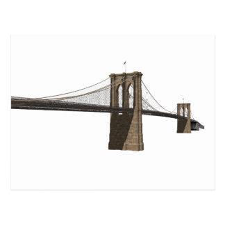 Brooklyn Bridge: New York City: 3D Model: Postcard