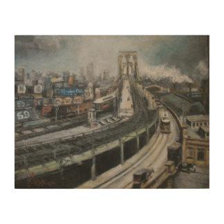 Brooklyn Bridge New York City Fine Art Painting Wood Canvases