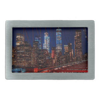 Brooklyn Bridge New York City Night Lights Belt Buckle
