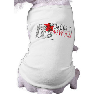 Brooklyn Bridge New York City NYC Christmas Dog T Sleeveless Dog Shirt