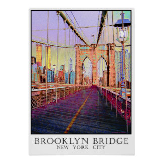 Brooklyn Bridge, New York City Poster