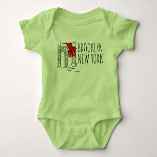 Brooklyn Bridge New York NYC Christmas Baby Suit