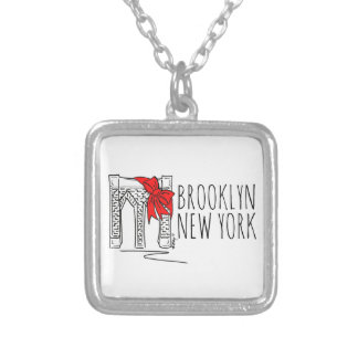 Brooklyn Bridge New York NYC Christmas Necklace