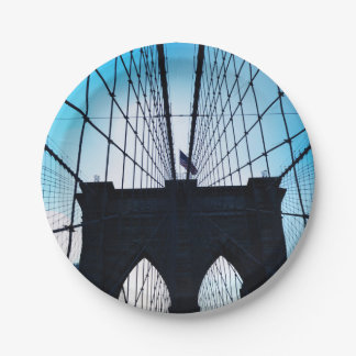 Brooklyn Bridge, New York Paper Plate