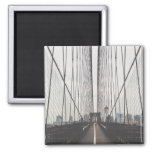 Brooklyn Bridge, New York Square Magnet