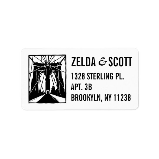 Brooklyn Bridge NY Address Labels