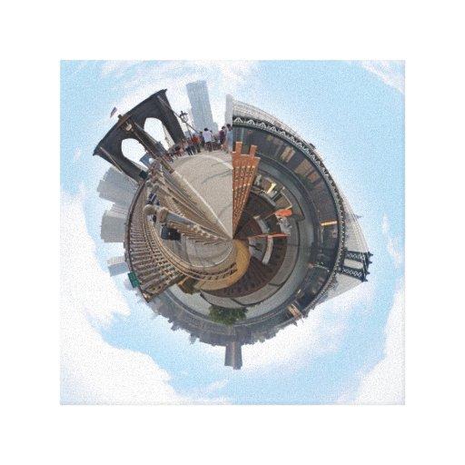 Brooklyn Bridge NYC 360 Degree Panorama Stretched Canvas Prints