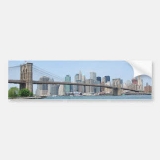Brooklyn Bridge & NYC Skyline - Bumper Sticker