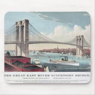 Brooklyn Bridge painting Mouse Pad