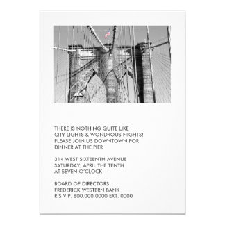 Brooklyn Bridge Party Invitations