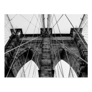Brooklyn Bridge Photo in Black and White Postcard