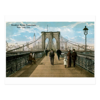 Brooklyn Bridge Promenade, New York City Postcard