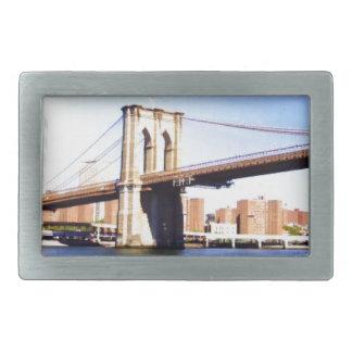 Brooklyn Bridge Rectangular Belt Buckle