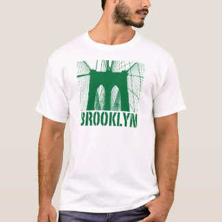 Brooklyn Bridge silhouette green T-Shirt