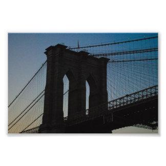 Brooklyn Bridge Silhouette Photo Print