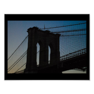 Brooklyn Bridge Silhouette Poster