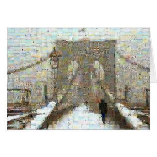 Brooklyn Bridge, Snowy Day Greeting Card