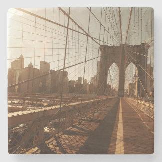 Brooklyn Bridge. Stone Coaster
