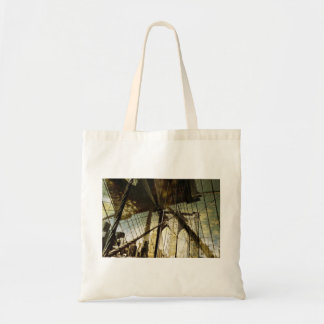 Brooklyn bridge theme tote bag