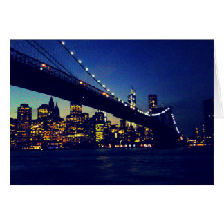 BROOKLYN BRIDGE TWILIGHT GREETING CARDS