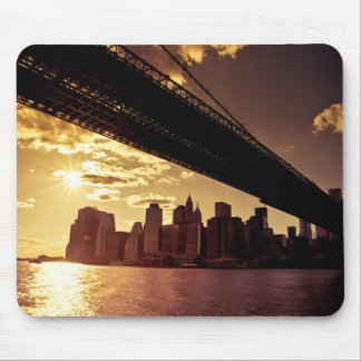 Brooklyn Bridge With New York City Skyscrapers Mouse Pad
