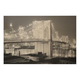 Brooklyn-bridge Wood Wall Art