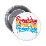 Brooklyn Colours 6 Cm Round Badge