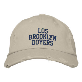 BROOKLYN DOYERS Distressed Chino Twill Cap Embroidered Hat