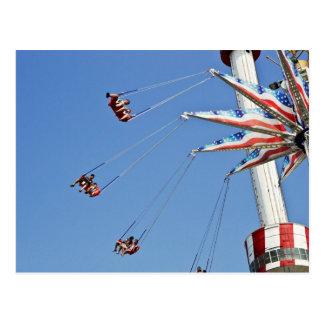Brooklyn Flyer - Luna Park, Coney Island  postcard