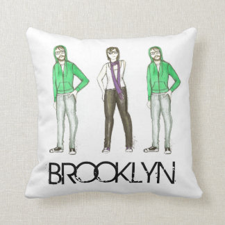 Brooklyn Hipsters Greenpoint Williamsburg NYC Cushion