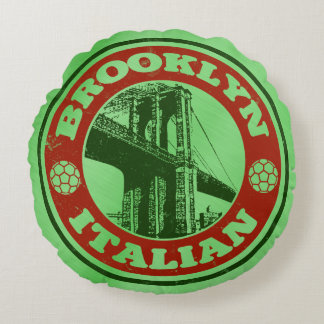 Brooklyn Italian American Round Cushion, New York Round Cushion