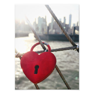 Brooklyn Love Lock Photo Print