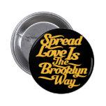 Brooklyn Love Yellow 6 Cm Round Badge