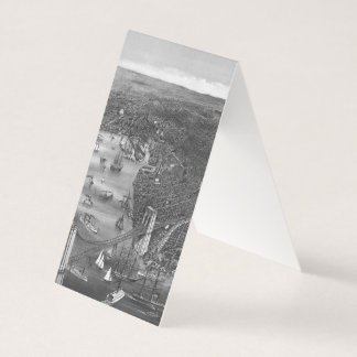Brooklyn Map Business Cards in Black & White