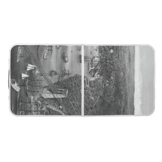 Brooklyn Map Pong Table in Black & White