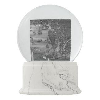 Brooklyn Map Snow Globe in Black & White