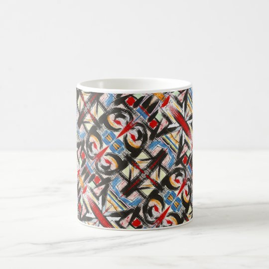 Brooklyn-Modern Brushstrokes Geometric Coffee Mug