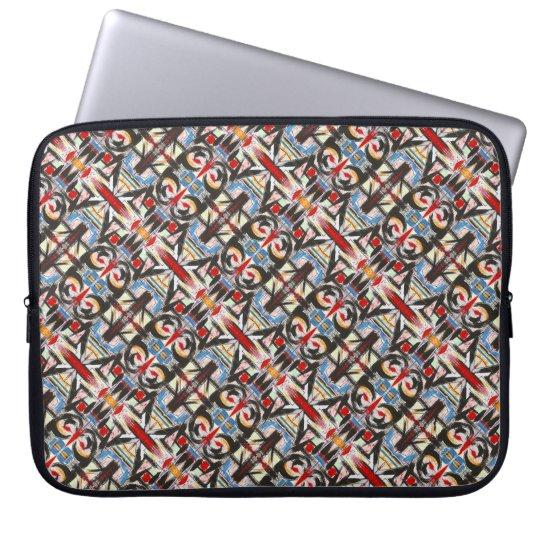 Brooklyn-Modern Brushstrokes Geometric Laptop Sleeve