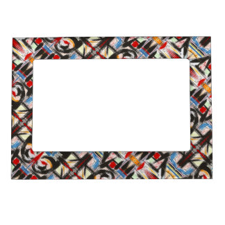 Brooklyn-Modern Brushstrokes Pattern Magnetic Picture Frame