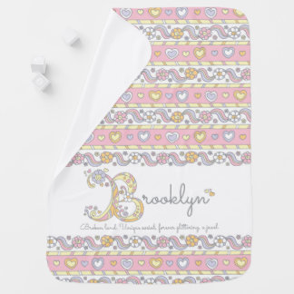 Brooklyn name and meaning hearts baby blanket