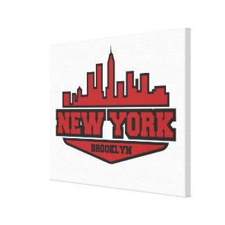 Brooklyn New York | Block Style Script Canvas Print