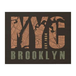 Brooklyn, New York | City Map Wood Wall Art