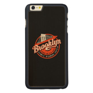 Brooklyn New York City | Retro Typography Carved Maple iPhone 6 Plus Case