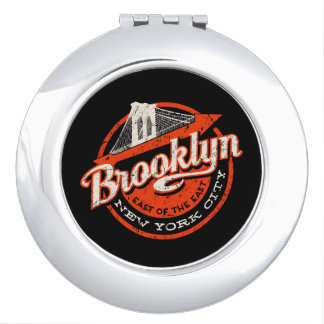 Brooklyn New York City | Retro Typography Compact Mirrors
