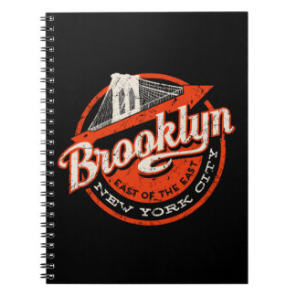Brooklyn New York City | Retro Typography Spiral Notebooks
