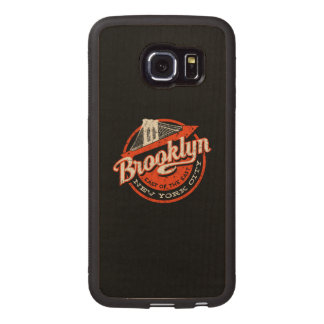 Brooklyn New York City | Retro Typography Wood Phone Case